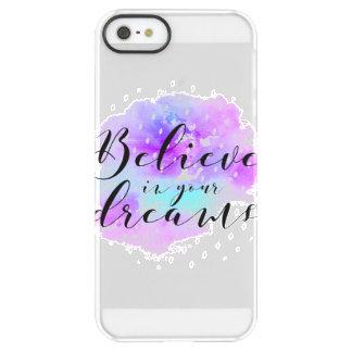 Capa Para iPhone SE/5/5s Permafrost® A aguarela acredita em suas citações dos sonhos