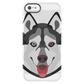 Capa Para iPhone SE/5/5s Permafrost® A ilustração persegue o rouco Siberian da cara