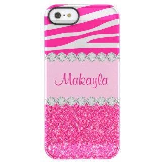 Capa Para iPhone SE/5/5s Permafrost® Caso cor-de-rosa feito sob encomenda do iPhone 5