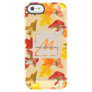 Capa Para iPhone SE/5/5s Permafrost® Monograma colorido das folhas e dos cogumelos de
