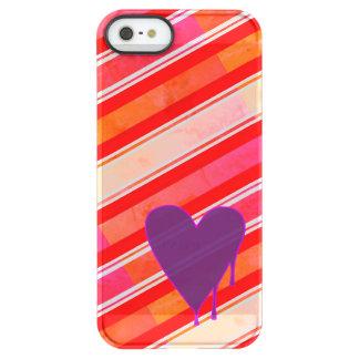 Capa Para iPhone SE/5/5s Permafrost® Roxo de derretimento do coração