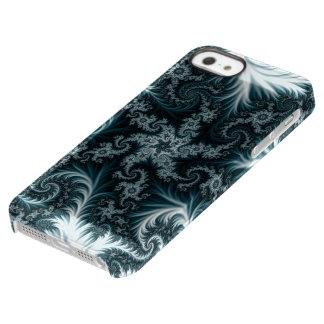 Capa Para iPhone SE/5/5s Permafrost® Teste padrão ciano e branco do fractal