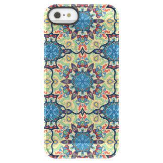 Capa Para iPhone SE/5/5s Permafrost® Teste padrão floral étnico abstrato colorido de da