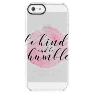 Capa Para iPhone SE/5/5s Transparente A aguarela seja amável e seja citações humildes