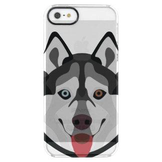 Capa Para iPhone SE/5/5s Transparente A ilustração persegue o rouco Siberian da cara