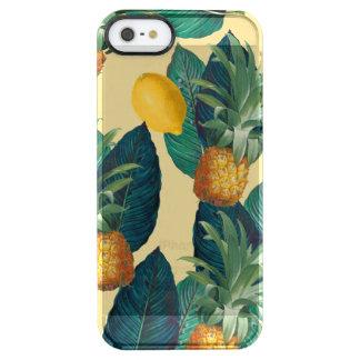 Capa Para iPhone SE/5/5s Transparente amarelo dos limões dos abacaxis