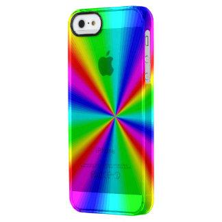 Capa Para iPhone SE/5/5s Transparente Arco-íris brilhante colorido