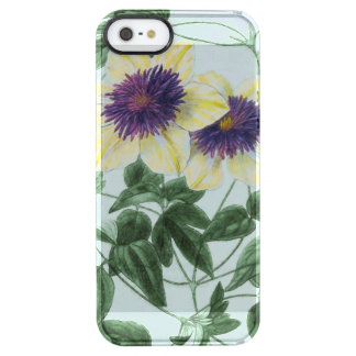Capa Para iPhone SE/5/5s Transparente Arte da flor do Clematis