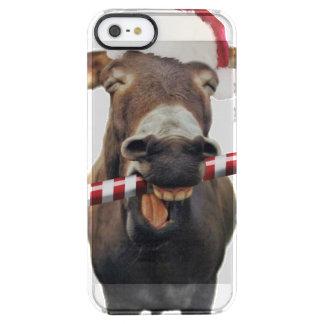 Capa Para iPhone SE/5/5s Transparente Asno do Natal - asno do papai noel - papai noel do