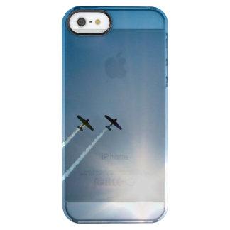 Capa Para iPhone SE/5/5s Transparente Aviões que voam no céu azul com Sun.