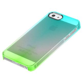 Capa Para iPhone SE/5/5s Transparente Azul de gelo e claro verde!