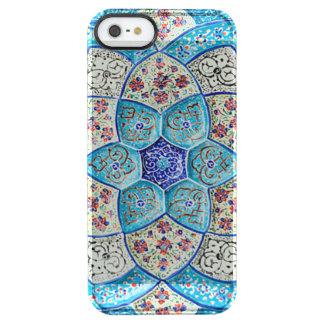 Capa Para iPhone SE/5/5s Transparente Azul de turquesa marroquino tradicional, branco,