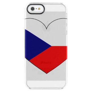 Capa Para iPhone SE/5/5s Transparente Bandeira da república checa simples