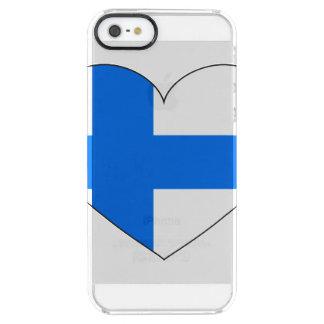 Capa Para iPhone SE/5/5s Transparente Bandeira de Finlandia simples