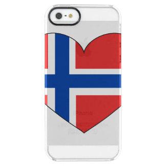 Capa Para iPhone SE/5/5s Transparente Bandeira de Noruega simples