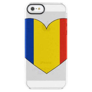 Capa Para iPhone SE/5/5s Transparente Bandeira de Romania simples