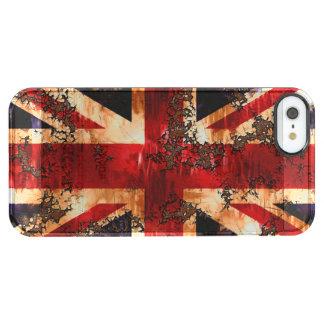 Capa Para iPhone SE/5/5s Transparente Bandeira patriótica oxidada de Reino Unido