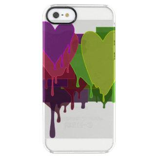 Capa Para iPhone SE/5/5s Transparente Blocos da cor que derretem corações