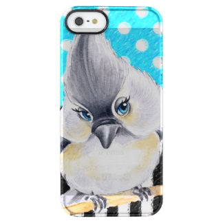Capa Para iPhone SE/5/5s Transparente Bolinhas do azul do Titmouse