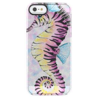 Capa Para iPhone SE/5/5s Transparente cavalo marinho cor-de-rosa