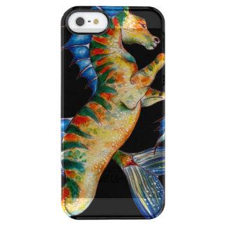 Capa Para iPhone SE/5/5s Transparente cavalo marinho no preto