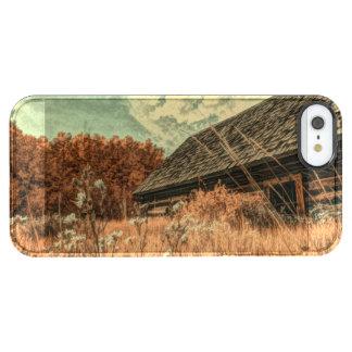 Capa Para iPhone SE/5/5s Transparente celeiro velho da fazenda do wildflower do campo do