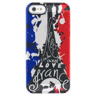 Capa Para iPhone SE/5/5s Transparente Cobrir da pele da caixa do SE do iphone de France