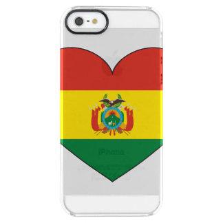 Capa Para iPhone SE/5/5s Transparente Coração da bandeira de Bolívia