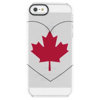 Capa Para iPhone SE/5/5s Transparente Coração da bandeira de Canadá