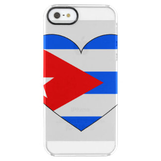 Capa Para iPhone SE/5/5s Transparente Coração da bandeira de Cuba