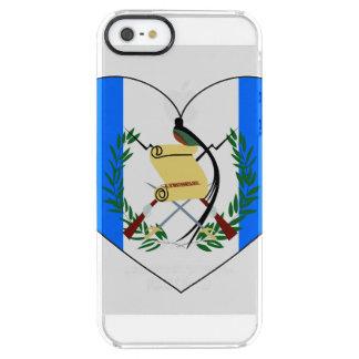 Capa Para iPhone SE/5/5s Transparente Coração da bandeira de Guatemala