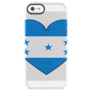 Capa Para iPhone SE/5/5s Transparente Coração da bandeira de Honduras