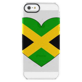 Capa Para iPhone SE/5/5s Transparente Coração da bandeira de Jamaica