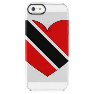 Capa Para iPhone SE/5/5s Transparente Coração da bandeira de Trinidad and Tobago