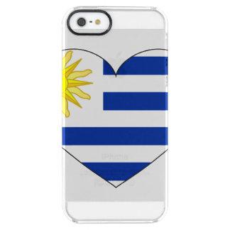 Capa Para iPhone SE/5/5s Transparente Coração da bandeira de Uruguai