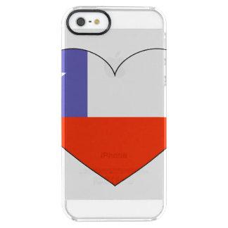 Capa Para iPhone SE/5/5s Transparente Coração da bandeira do Chile