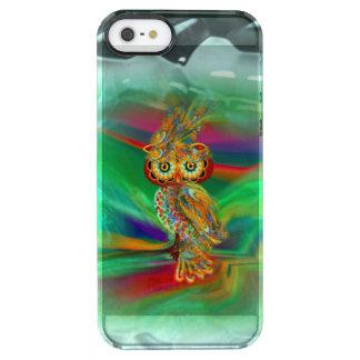 Capa Para iPhone SE/5/5s Transparente Coruja tropical da rainha da forma