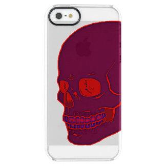 Capa Para iPhone SE/5/5s Transparente Crânio de néon vermelho claro!