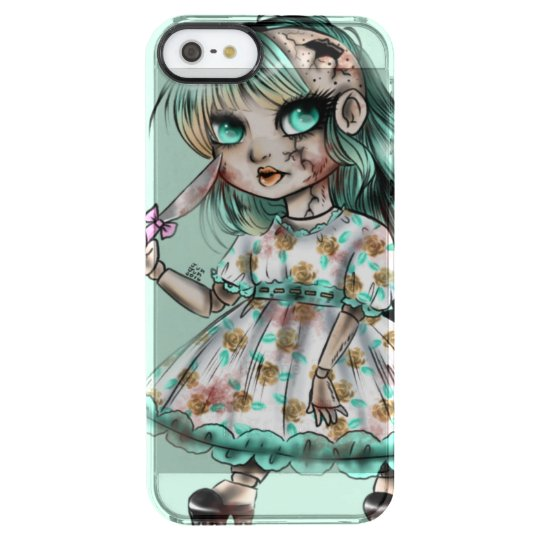 Capa Para iPhone SE/5/5s Transparente Creepy doll
