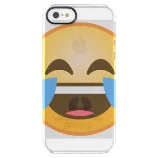 Capa Para iPhone SE/5/5s Transparente Emoji de riso de grito