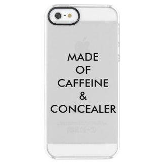 CAPA PARA iPhone SE/5/5s TRANSPARENTE FEITO DA CAFEÍNA & DO CONCEALER