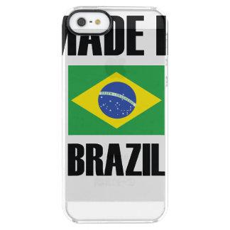 Capa Para iPhone SE/5/5s Transparente Feito na bandeira de Brasil