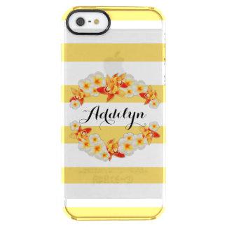 Capa Para iPhone SE/5/5s Transparente Flores da orquídea e do Plumeria, elegantes