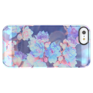 Capa Para iPhone SE/5/5s Transparente Flores no iPhone