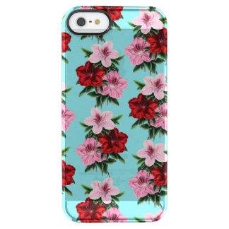 Capa Para iPhone SE/5/5s Transparente flores rosas vermelha na luz da cerceta