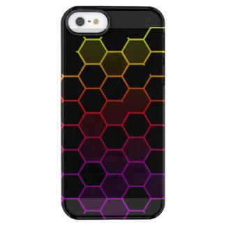 Capa Para iPhone SE/5/5s Transparente Hex da cor no preto