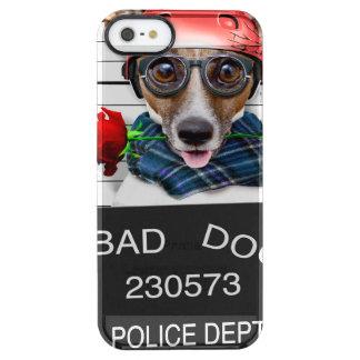 Capa Para iPhone SE/5/5s Transparente Jaque engraçado russell, cão do Mugshot