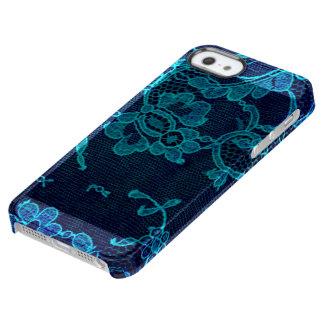 Capa Para iPhone SE/5/5s Transparente Laço gótico dos azuis marinhos do Victorian