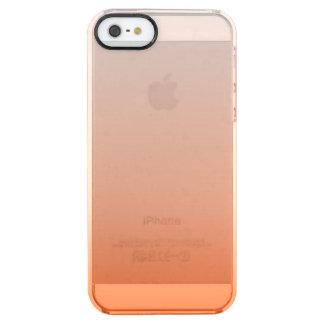 Capa Para iPhone SE/5/5s Transparente laranja chique feminino da tangerina do abricó do