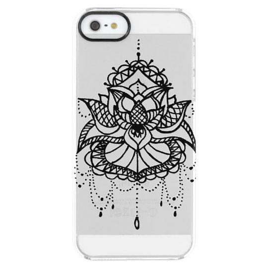 Capa Para iPhone SE/5/5s Transparente lotus Flower